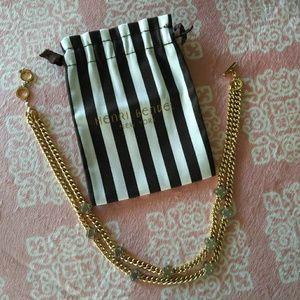 Henri Bendel double strand flower necklace